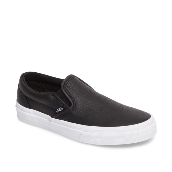 vans shoes black leather